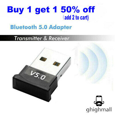 USB bluetooth 5.0 Wireless Dongle Adapter Stereo Receiver PC Real 5.0 Adapter