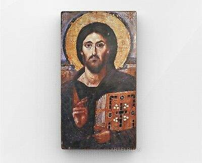 Sinai orthodox icons. Jesus Christ Pantocrator. Glossy photo.