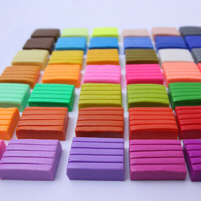 32 Mixed Colors Modelling Polymer Plasticine Sculpey Block Clay Kids Toy Gift