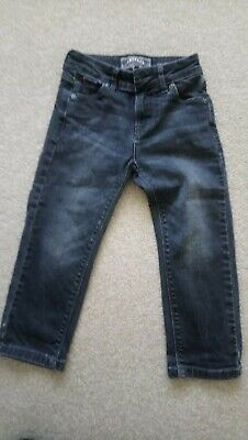 Boys Black Fat Face Jeans Size 4 Years