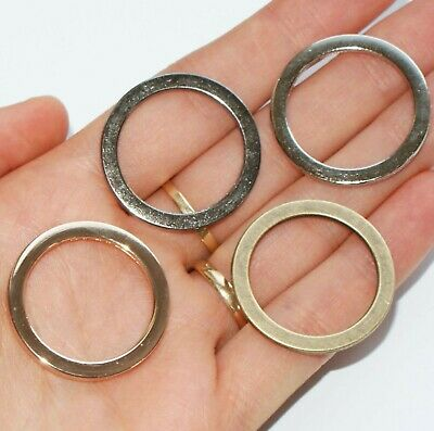 WELDED O-Rings ~ 25mm inner dia ~ Metal Leathercraft BUCKLES straps bags collars