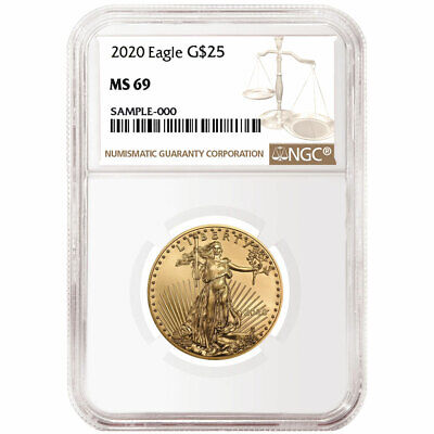 2020 $25 American Gold Eagle 1/2 oz. NGC MS69 Brown Label