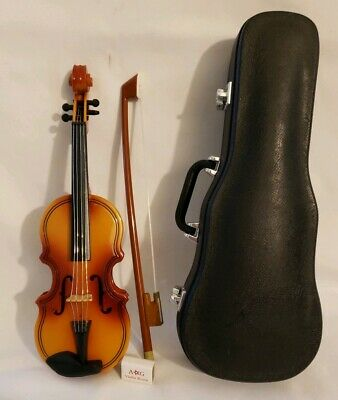 "7.5"" Mini Violin With Bow And Rosin In Case"