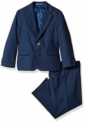 Izod Blue US Size 3T Toddler Boys Mini-Grid Printed Two Piece Suit $89 #678
