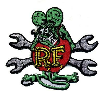 Hot Rod Patch RAT FINK Badge wrenches Drag race Ed Big Daddy Roth Iron On