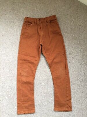 Marks And Spencer Boys Brown / Tan / Pumpkin Trousers Age 10