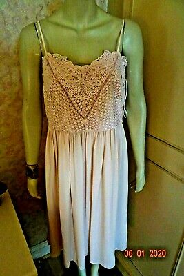 Marks & Spencer Blush Pink Empire Line Special Occasion Dress Sze 16 Rrp £59
