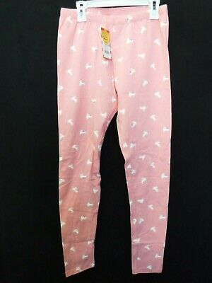 Girls Xlarge 14/16 Cat & Jack Pink Bunny Print Leggings Pants Stretch New #17411