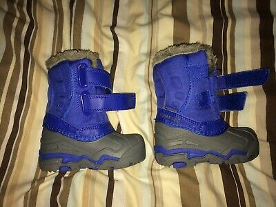 Campri winter snow boots - Size 5 infant, never worn in blue - wellies