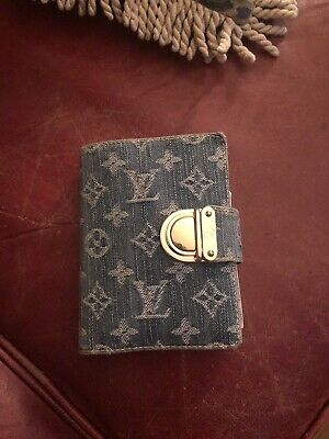 AUTHENTIC Louis Vuitton Denim Agenda WITH AUTHENTIC PEN