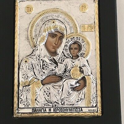 Sterling Silver 925 Picture Religious Byzantine Icon Decorative Catholic