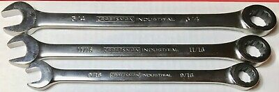 3 Ratcheting Craftsman Industrial Sae Combination Wrenches 72 Teeth Usa