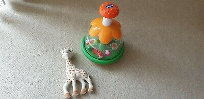 Chicco carousel bees and balls, Sophie the Giraffe teefing toy