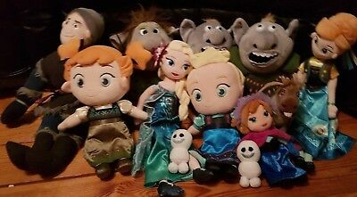Disney Frozen Soft Toys, Elsa, Anna, Twin Snowgies,Trolls, Sven,Various