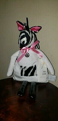 New Woof & Poof Baby ZEBRA Girl  TOOTH FAIRY Made in USA