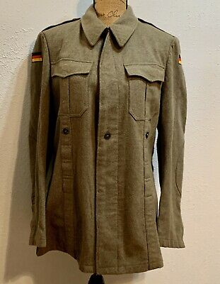 Military 1965 Nato German Germany Sz Vintage Flag Wool Field Jacket Coat