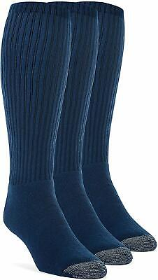 Yolber Men'S Cotton Super Soft Over The Calf Cushion Socks - 3 Pairs