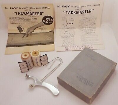 Rare Vintage Tailor's Tackmaster Original Box Sewing Tool w/ Accessories 1930s