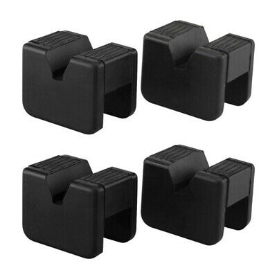 4pcs Auto Jack Pad Adapter Stand Universal Rubber Slotted Rail Replacement Set
