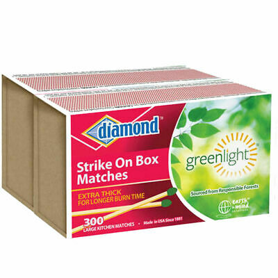 Diamond Strike On Box Kitchen Matches Greenlight 600 Wooden Match Fire Starters