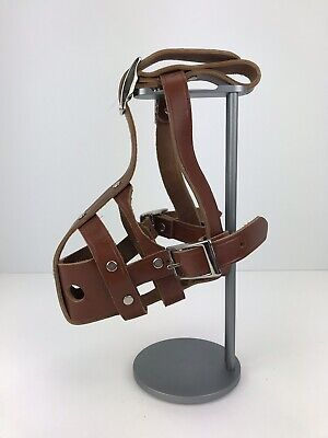 Vintage Leather Muzzle Medium Build Adjustable Made Of Thick Brown Leather