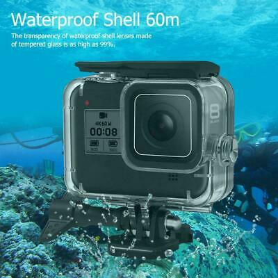For GoPro Hero 8 Black Camera Case Shell 60m Deep Diviing Waterproof Accessories