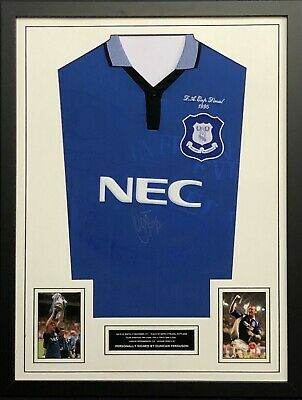 Duncan Ferguson Hand Signed Everton Shirt FRAMED