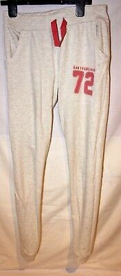 Girls elasticated pale grey joggers AGE 14 years pink tie and applique 72 detail