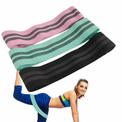 Fabric Resistance Bands Butt Gym Exercise Loop Circles Set Legs Glutes Women