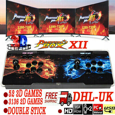 Pandoras Box 12s 3188 In 1 Video Games Arcade Console Support 2 Players PK Solo