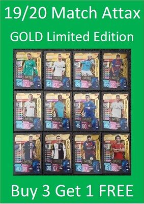 2019/20 Match Attax UEFA Soccer Cards - GOLD Limited Editions - Buy 3 Get 1 FREE