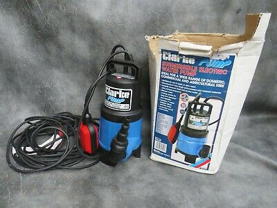 A SUPERB UNUSED CLARKE CSV1A 240v SUBMERSIBLE PUMP WITH FLOAT SWITCH IN BOX