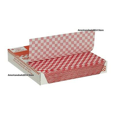 Member's Mark Red Checked Basket Liner Sheets (1,000 ct.) Free FAST Shipping