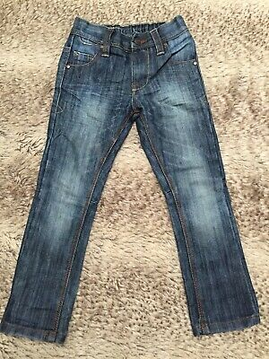 Next Boys Dark Blue Washed Denim Jean. 4 Years Old. Straight Skinny Leg