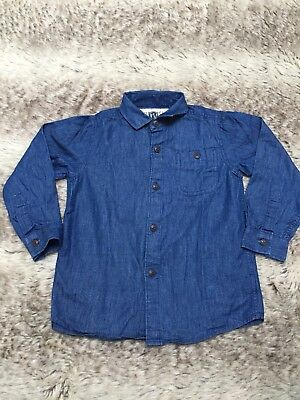 NEXT Boys Dark Blue Denim Shirt. 3 Years Old