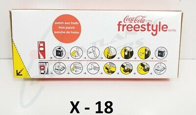 18 Coke Freestyle Fruit Punch Flavored Syrup 21oz Microdosed Beverage Component