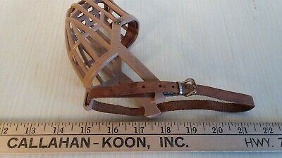 Vtg Dog Muzzle Made in Italy 4
