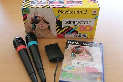 Singstar 80's Bundle inc Game and 2 x Microphones for PlayStation 2 in Box PS2