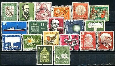 Germany 1957 Commemorative Year Set Complete Set of 19 Used Scott's 754 to 779