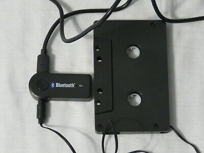Bluetooth Audio Cassette Adapter With Microphone - Black