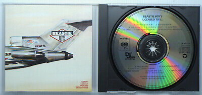 BEASTIE BOYS Licensed To Ill CD 1986 DIDP No IFPI 2 Barcodes Import Sticker NM