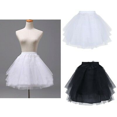 Kids Petticoat Underskirt Crinoline Slip Tutu Skirt Wedding Flower Girls Dress