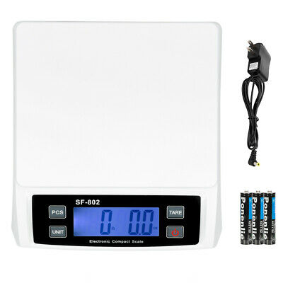 66 LB x 0.1oz Digital Postal Shipping Scale Weight Postage Battery + AC Adapter
