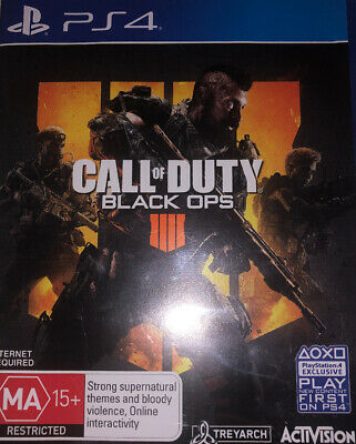 Call of Duty Black Ops 4 PS4 Playstation 4 USED GREAT CONDITION