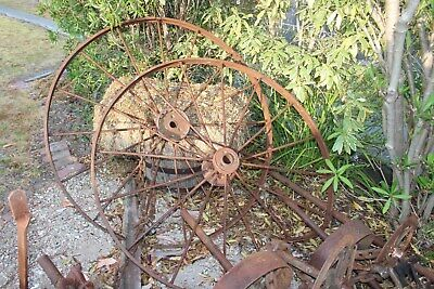 Antique large steel old farm implemen  54 inch or 1380 D  Great garden feature