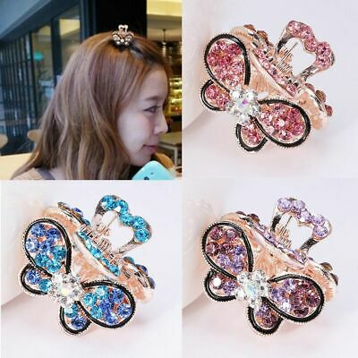 Girls Hair Clip Claw Mini Butterfly Hairpins Claw Barrette Crystal Rhinestone