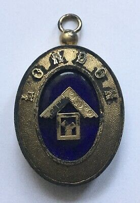 LONDON - MASONIC MEDAL - SOLID SILVER 1934 JEANNE D'ARC LODGE (mm.45x70).