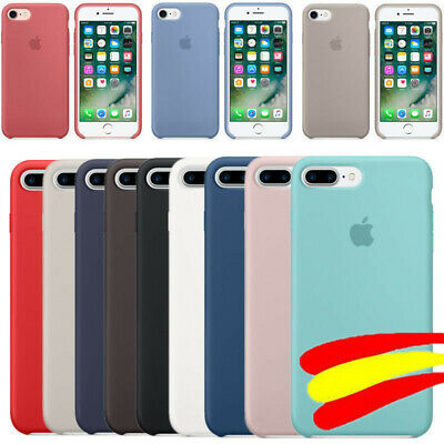 Funda oficial genuina para Apple iPhone X 6 6s 7 8 Plus de silicona ultra suave