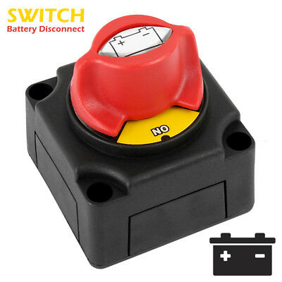 12V/24V Battery Isolator Disconnect Switch for Marine Boat Car Rv ATV Vehicles