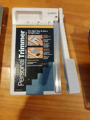 Quartet Personal Trimmer Paper Guillotine used